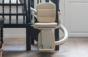 Single track curved stairlift with Freedom Stairlifts