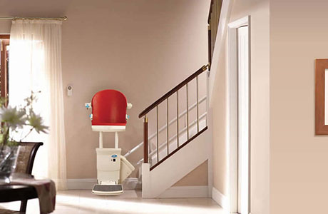 Curved perch stairlift with Freedom Stairlifts
